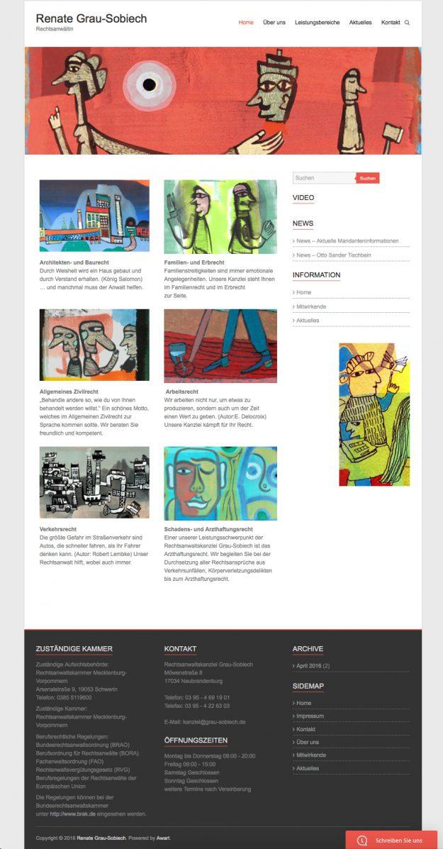 responsive Webdesign Neubrandenburg Rechtsanwalt Anja Wießmann