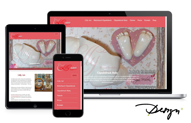 Responsives-Design-Webseiten-Babybauch-Gipsabdruck