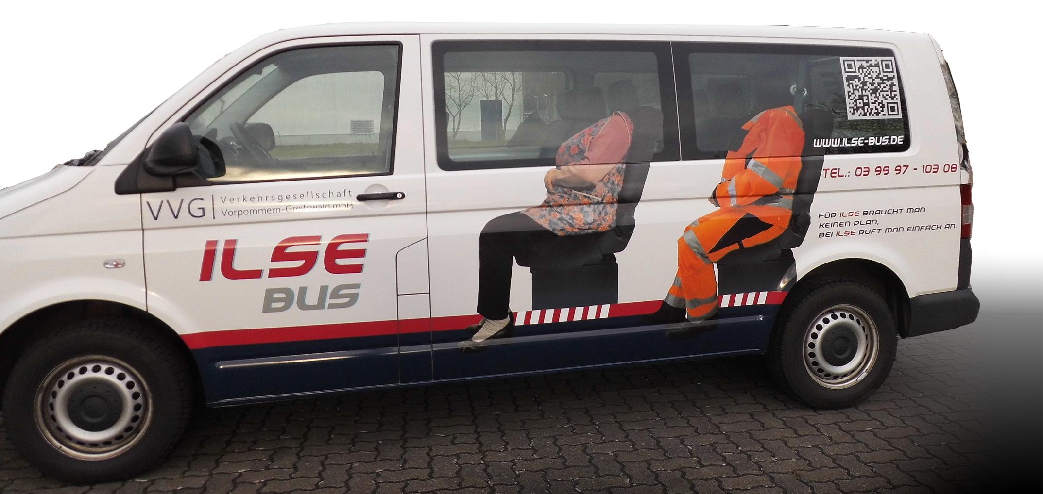 Konzeption Fahrzeugbeklebung Ilse Bus wiessmann