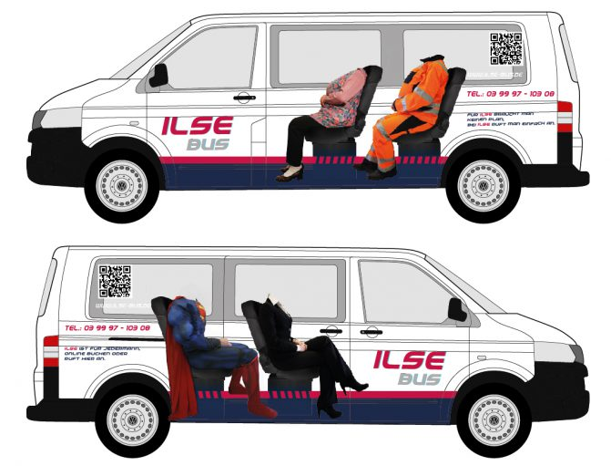 Fahrzeugbeklebung Ilse Bus wiessmann