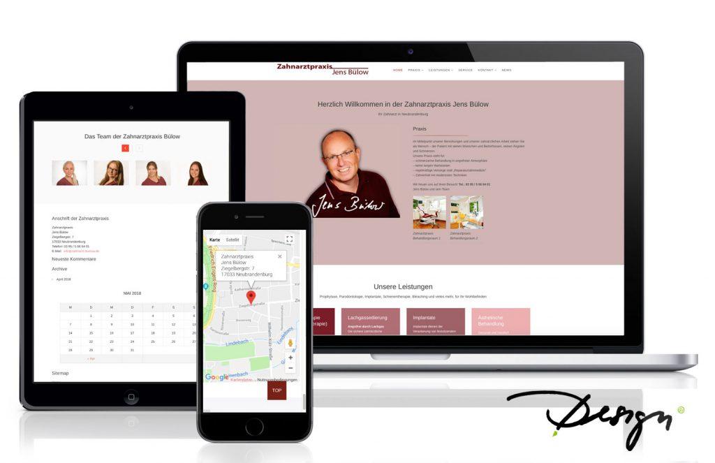 Responsives-Design-Webseiten-Zahnarzt-Neubrandenburg