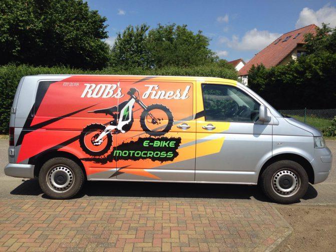 Fahrzeugbeschriftung Motocross Grafikdesign Neubrandenburg MV Anja Wießmann