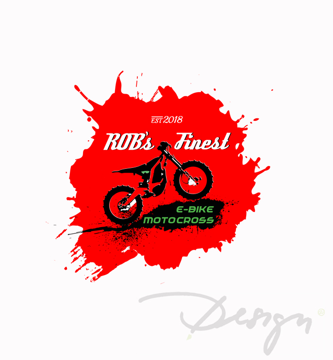 Logoerstellung Logoredesign Grafik Robs Finest motocross e-bike Grafikdesign Wiessmann Neubrandenburg